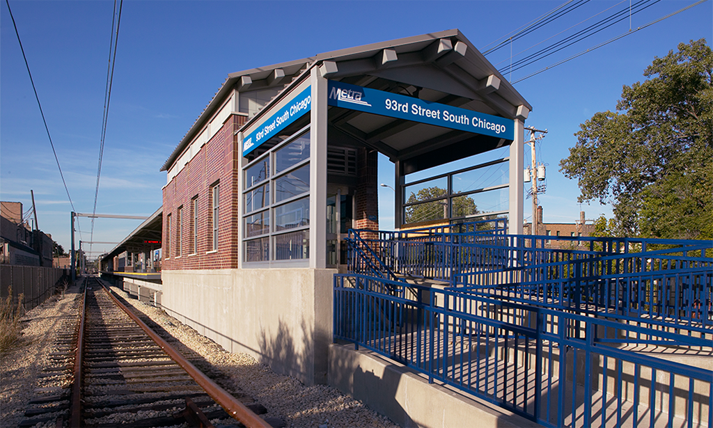 Metra Electric Line Station